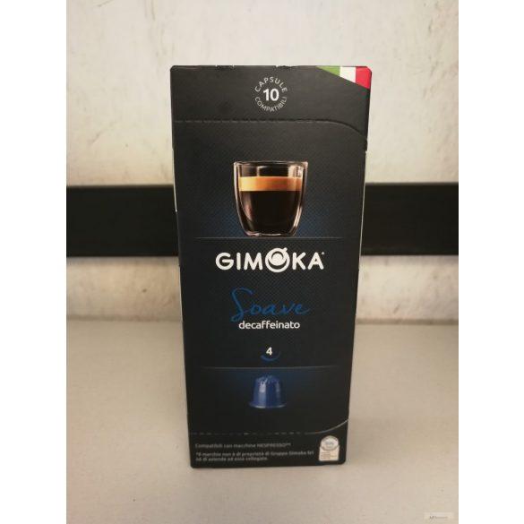 Gimoka Soave koffeinmentes Nespresso kávékapszula 10X5,5 gr.
