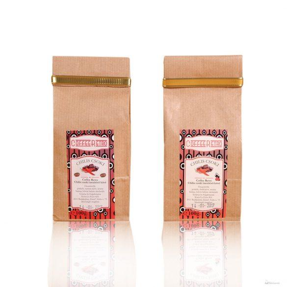 Retro kávé Chilis csokoládé 100gr.őrölt kávé