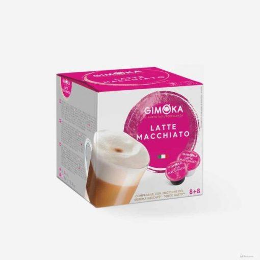 Gimoka Latte Macchiato Dolce Gusto kávékapszula 8+8db